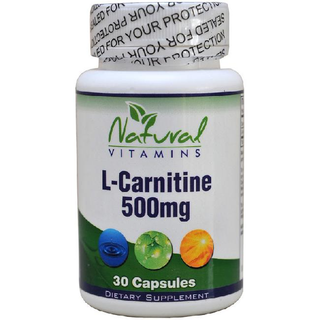 Natural Vitamins L-Carnitine 500mg, 30caps