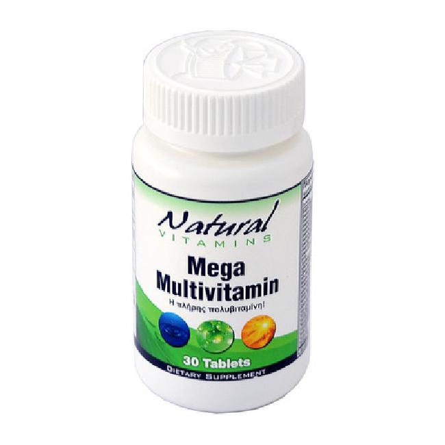 Natural Vitamins Mega Multivitamin , 30 Ταμπλέτες