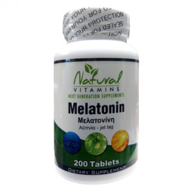 Natural Vitamins Melatonin 1mg , 200Tabs
