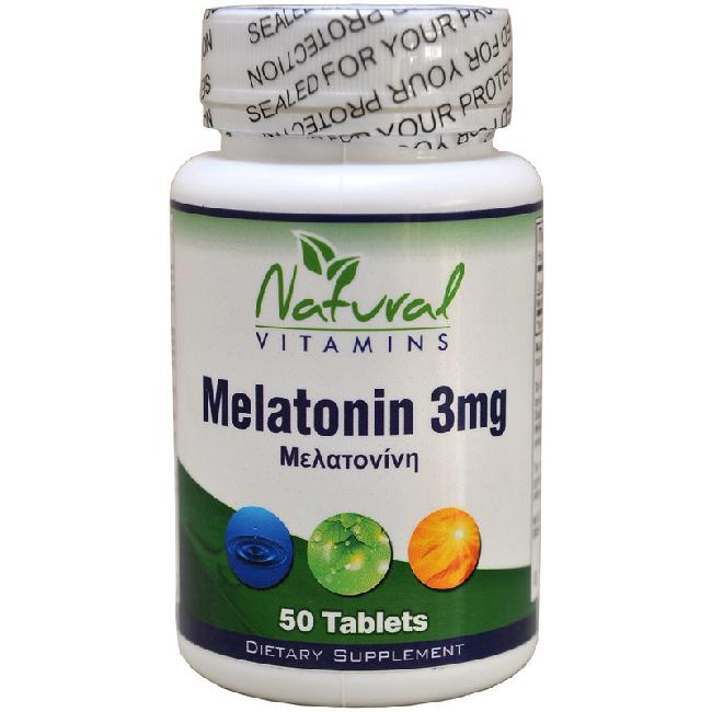 NATURAL VITAMINS MELATONIN 3MG χ 50 TABS