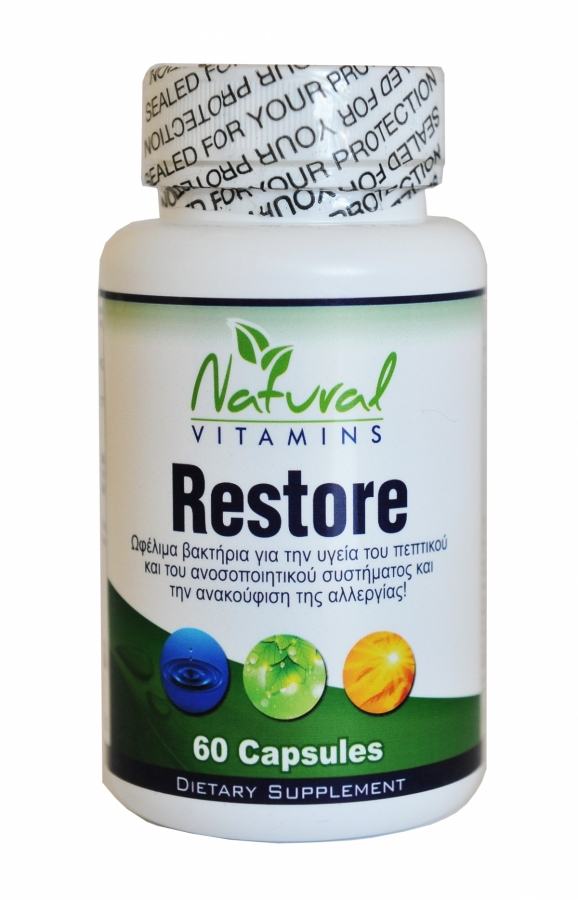Natural Vitamins Restore, 60 Caps