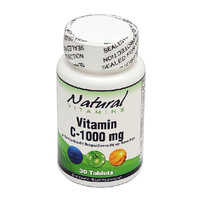 Natural Vitamins Vitamin C 1000mg,30tabs