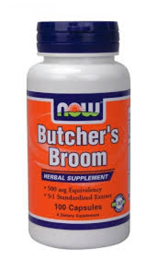 Now Butcher's Broom 500mg 100Caps