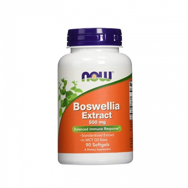 Now Foods Boswellia Extract 500mg, 90 Μαλακές Κάψουλες