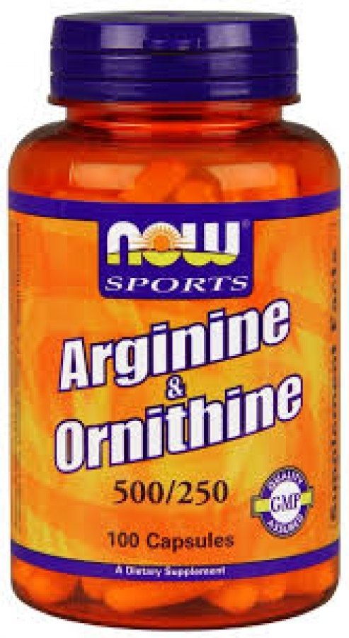 Now Foods L-Arginine & Ornithine 500 & 250mg 100 Κάψουλες