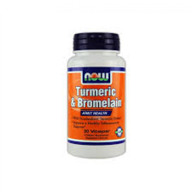 Now Foods Turmeric And Bromelain 600mg / 300mg , 90 φυτικές κάψουλες