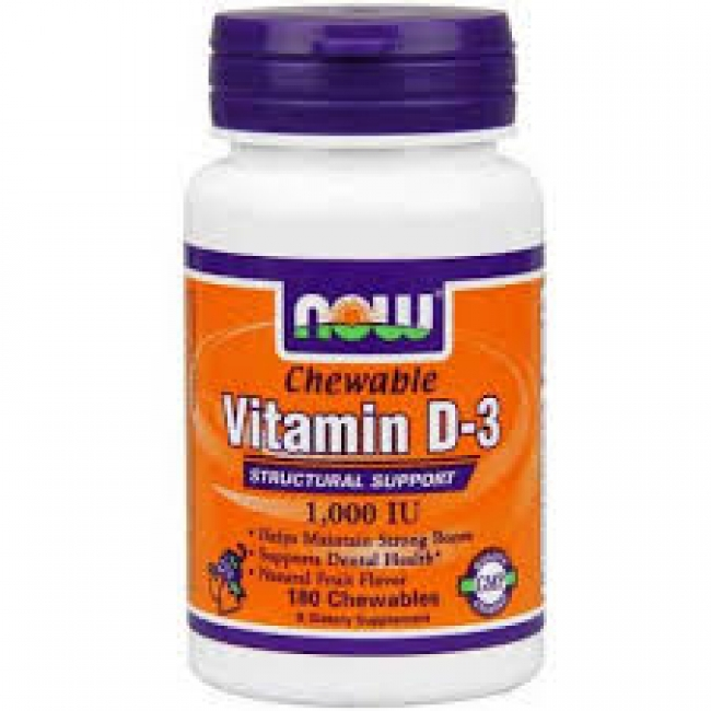 Now foods Vitamin D-3 1000 IU , 180softgels