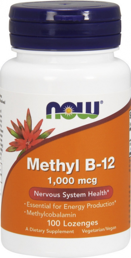 Now Methyl B-12 1000 mcg Methylcobalamin ,100 Lozenges