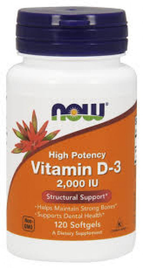 Now Vitamin D3 2.000 IU, 120 softgels