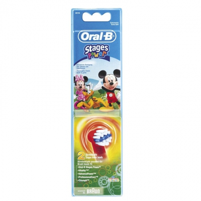 Oral-B Stages Power Mickey Ανταλλακτικές Κεφαλές 2 Τεμάχια