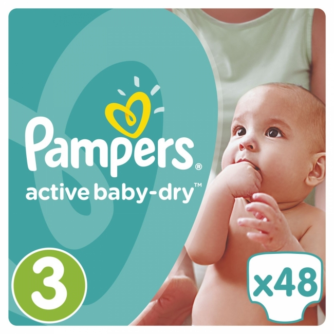 Pampers Active Baby Dry No3 (5-9Kg) 48τμχ