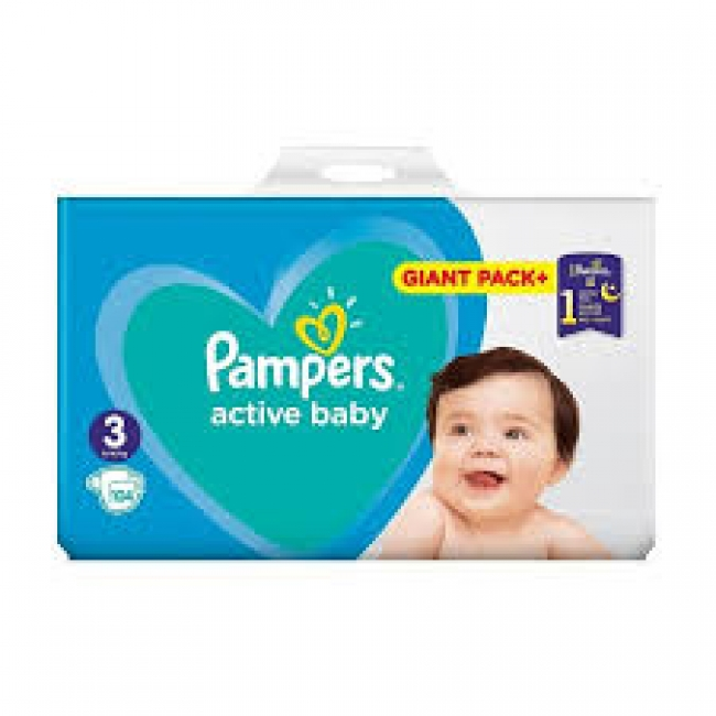 Pampers Active Baby Giant Pack No 3 (6-10kg) , 104 Τεμάχια