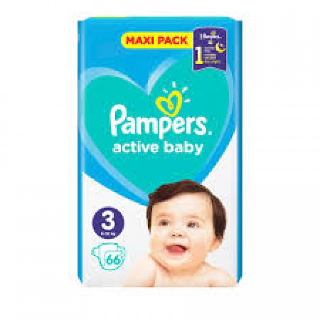 Pampers Active Baby Maxi No 3 (6-10kg) 66τμχ