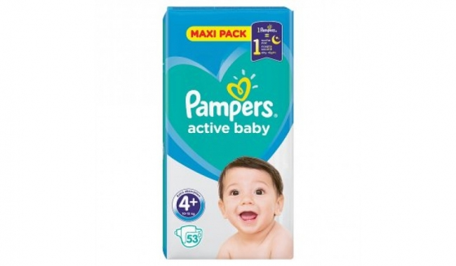 Pampers Active Baby Maxi No 4 (8-16kg), 58 Τεμάχια