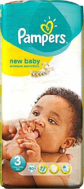 Pampers New Baby Midi , 50 Tεμάχια (5-9kg)