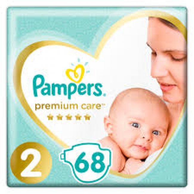 Pampers Premium Care Jumbo Box Νo 2 (4-8kg) 68 τεμάχια