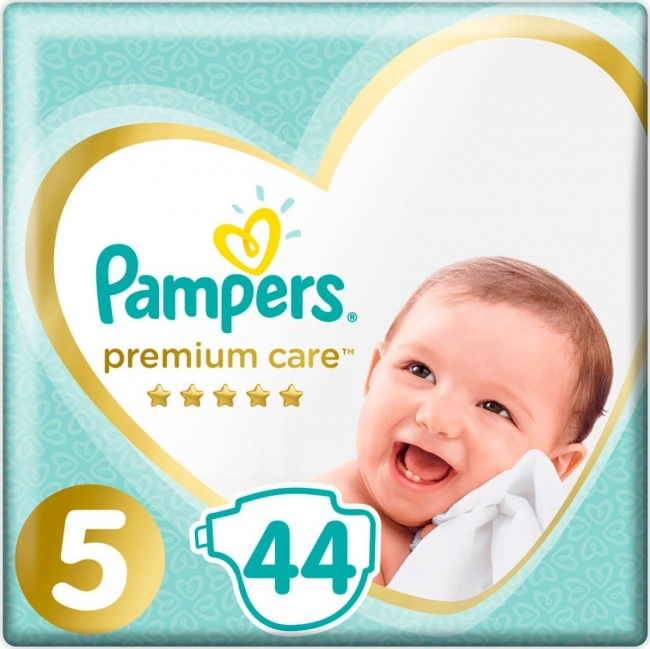 Pampers Premium Care Jumbo Pack No.5 Junior (11-16kg) 44τμχ