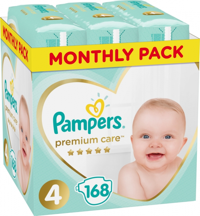 Pampers Premium Care Monthly Box No 4 (9-14Kg) 168 τμχ