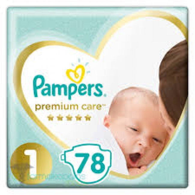 Pampers Premium Care No 1 (2-5Kg) 78 τεμάχια