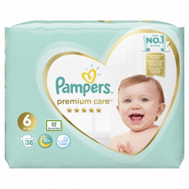 Pampers Premium Care No 6 (13+kg) Jumbo Box 38τμχ