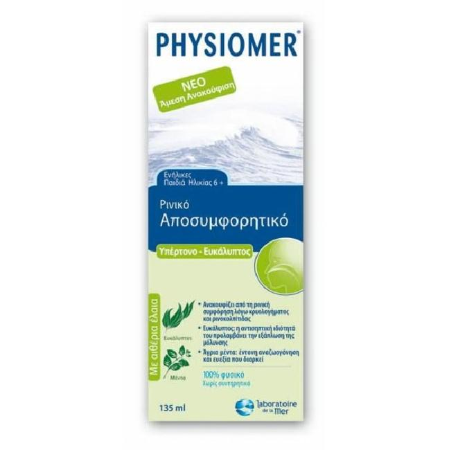 Physiomer Hypertonic Eucalyptus 135ml
