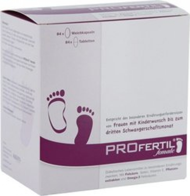 Profertil for women 84 soft gels & 84 tabs
