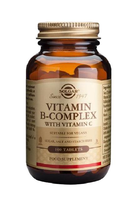 Solgar B-Complex with Vitamin C 100 ταμπλέτες
