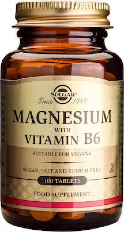 Solgar Magnesium with Vitamin B6 , 100 Tablets