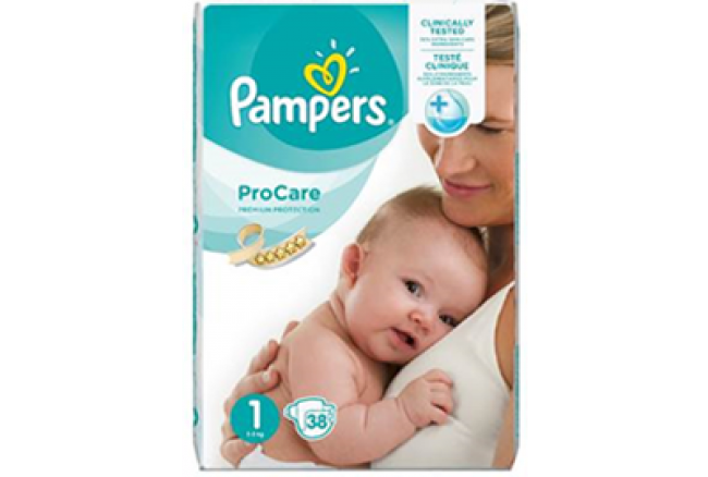 Pampers ProCare Premium Protection No1 (2-5kg) , 38 Τεμάχια
