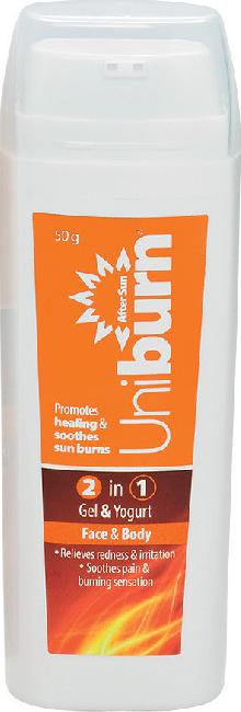 Uniburn After Sun 2 in 1 Gel & Yogurt Face & Body 50gr