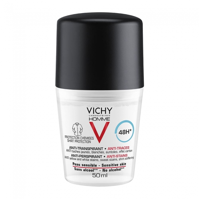 Vichy Homme Anti-Perspirant 48h Sensitive Skin Roll-On 50ml
