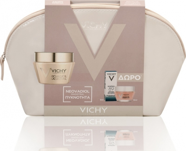Vichy Magistral Baume Ξηρή Promo, 50ml & ΔΩΡΟ Masque Eclat, 15ml & Mineral 89, 5ml