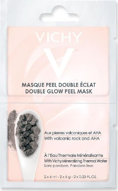 Vichy Double Glow Peel Mask Volcanic Rock & AHA 2x6ml