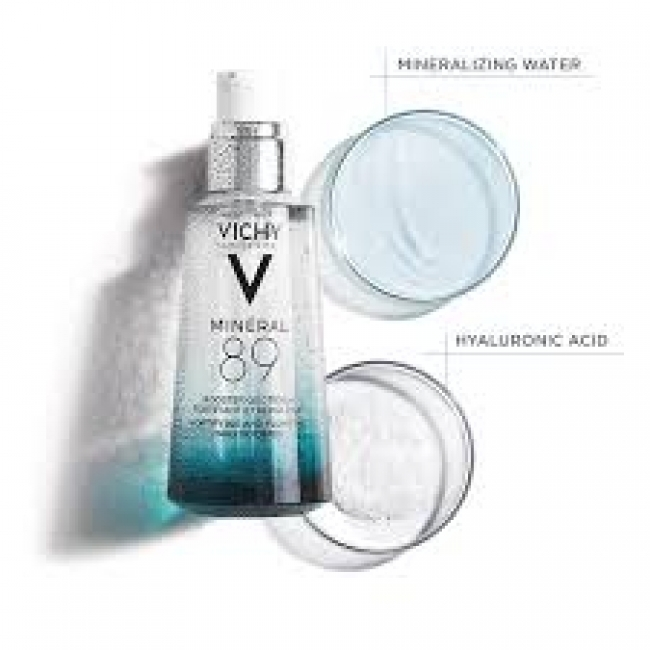 Vichy Mineral 89 Summer Size Ενυδατικό Booster Προσώπου - Hyaluronic Acid Face Moisturizer, 75ml