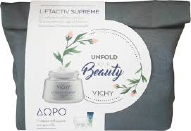 Vichy Promo Liftactiv Supreme Κανονικές/Μικτές 50ml & Mineral 89 4ml & Liftactiv Night 15 ml & Mineral 89 eyes 1ml
