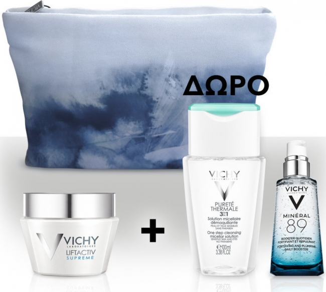 Vichy ΠΑΚΕΤΟ Liftactiv Supreme Ξηρές 50ml & ΔΩΡΟ Purete Thermale 3 In 1 , 100ml & Mineral 89, 1.5ml