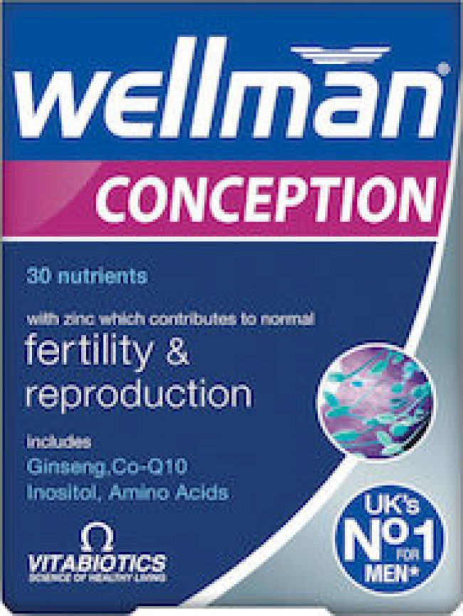 Vitabiotics Wellman Conception, 30 ταμπλέτες