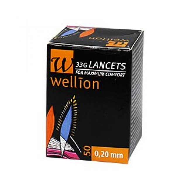 Wellion 33G Lancelets 50 0.20mm