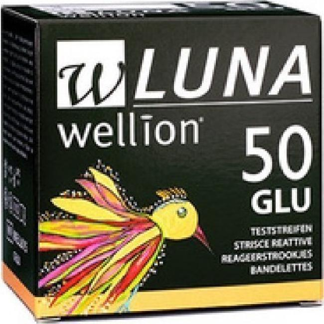 WELLION LUNA 50STRIPS ΓΛΥΚΟΖΗΣ